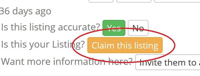 click claim this listing