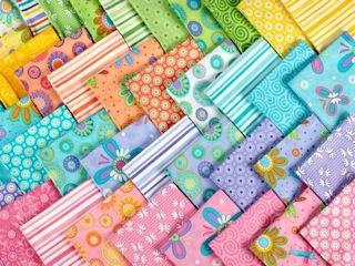 Colorful Array of Fabrics