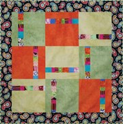 sample quilt block with colors