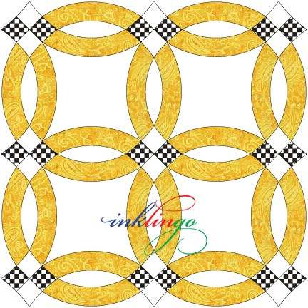 Double Wedding Ring Quilt Designs