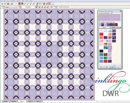 Double Weddng Ring Quilt Pattern in Electric Quilt