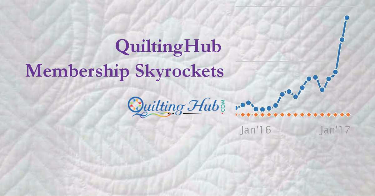 QuiltingHub Membership Skyrockets