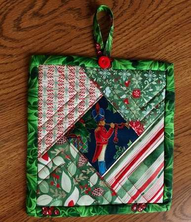 Embroidered and Appliqued Hot Pad Christmas Quilted