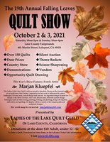 Falling Leaves Quilt Show in Lakeport