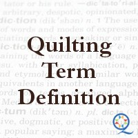 Quilting Terms